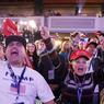 Dans un hôtel Hilton de New York, des fans du candidat républicain crient leur joie.