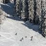 Des skieurs dans le secteur Brochaux.