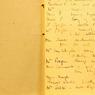 Une image du carnet sur lequel Agatha Christie posa les premières bases de son roman «Mort sur le Nil».