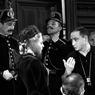 Avec le réalisateur Gérad Oury sur le tournage du film Le crime ne paie pas (1951).
