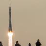 Le 7 juillet. Le vaisseau spatial Soyouz MS-01 sort du cosmodrome de Baïkonour avec l'expédition 48-49 à son bord.