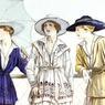 Costume en jersey de Chanel. Dessin paru dans la revue Les élégantes parisiennes en mars 1917.