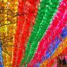 PRÉPARATIFS. Ce mercredi 12 avril, au temple Jogye, à Séoul en Corée du Sud, un homme accroche des papiers sur lesquels sont inscrits les souhaits des adeptes du bouddhisme à des lanternes de lotus en vue des célébrations pour l'anniversaire de Bouddha. Cet événement sera célébré le 8ème jour du 4ème mois lunaire, ce qui équivaut au 3 mai prochain.