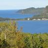 La baie de Métis-sur-Mer, petit village de Gaspésie, sur la rive sud du fleuve Saint-Laurent, au Québec.