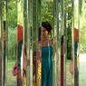 Toujours sur l'île aux Fagots, les «Entailles», de Wilson Trouvé, offre au promeneur d'étonnants jeux de miroir.
