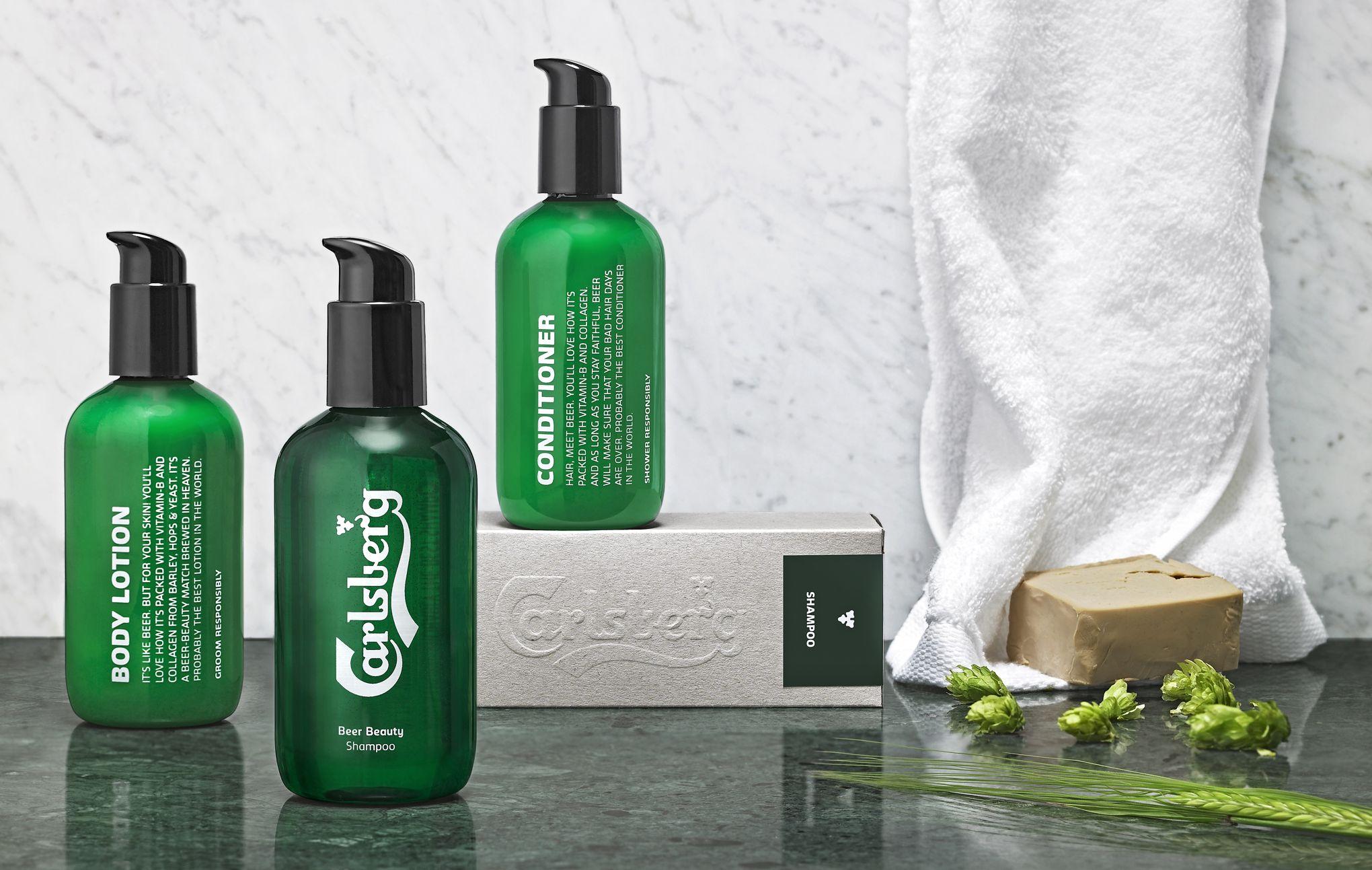 Carlsberg Lance Des Cosmetiques Pour Hommes A La Biere