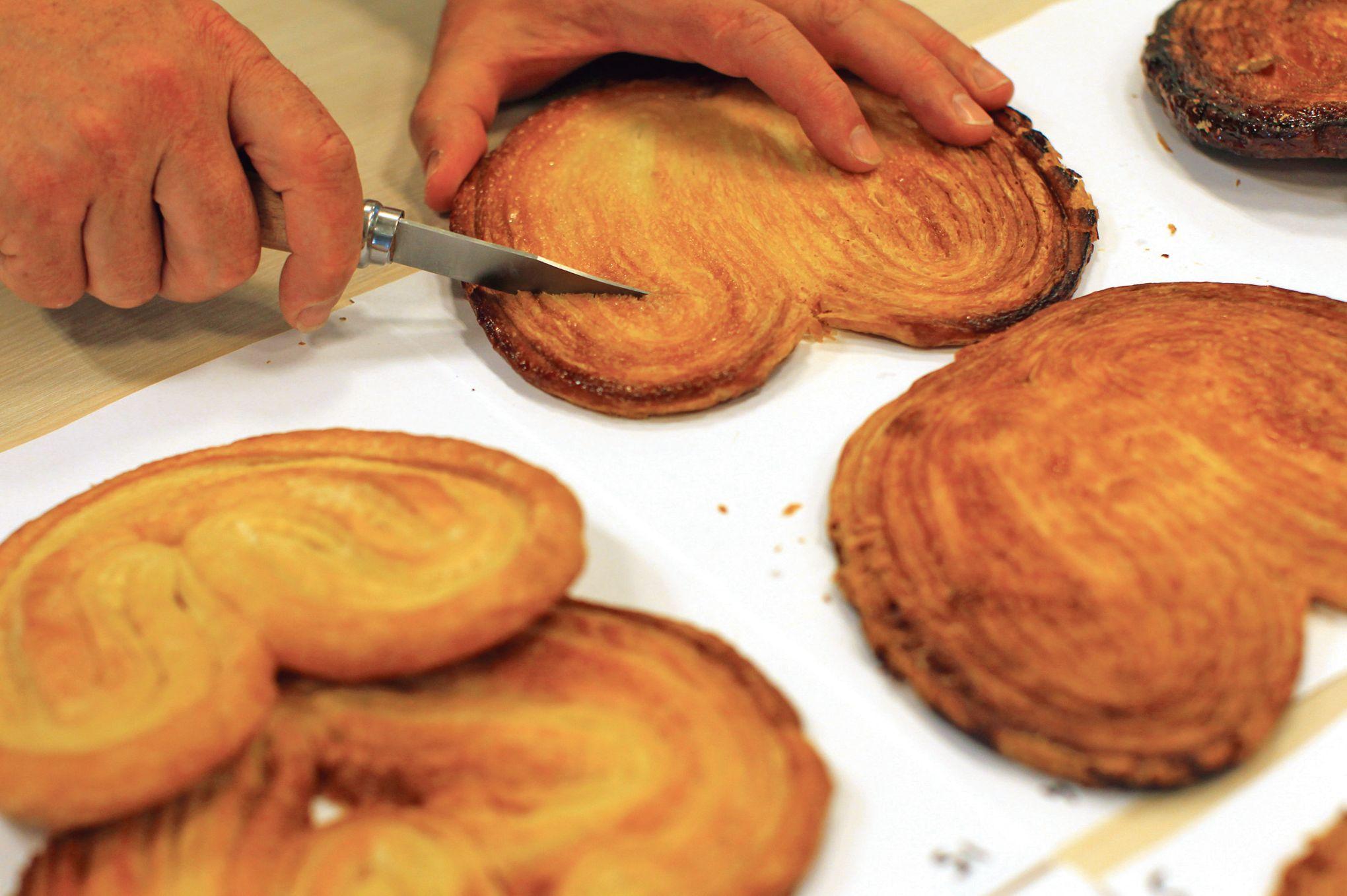 palmier avec pâte feuilletée