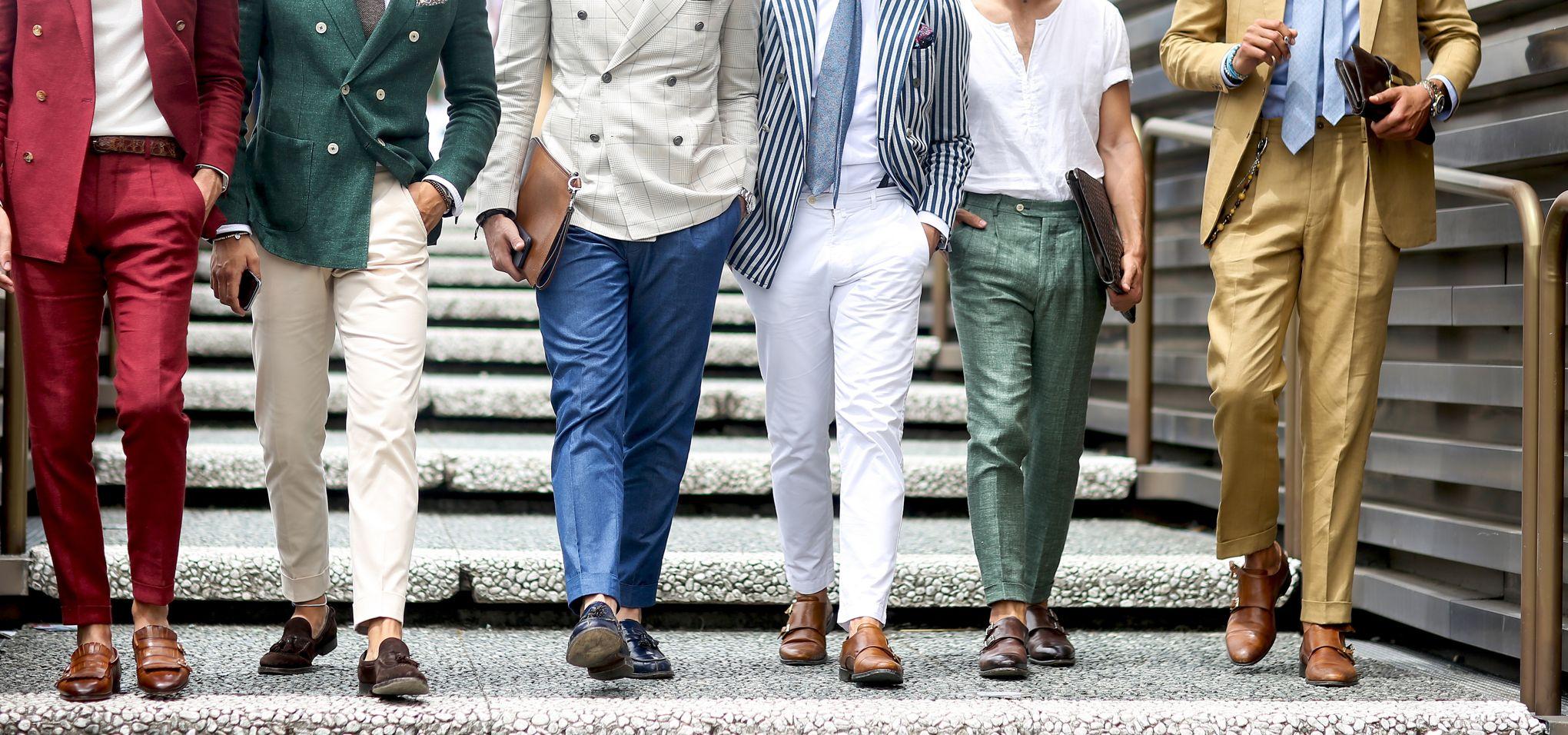 Ourlet de jeans pour hommes