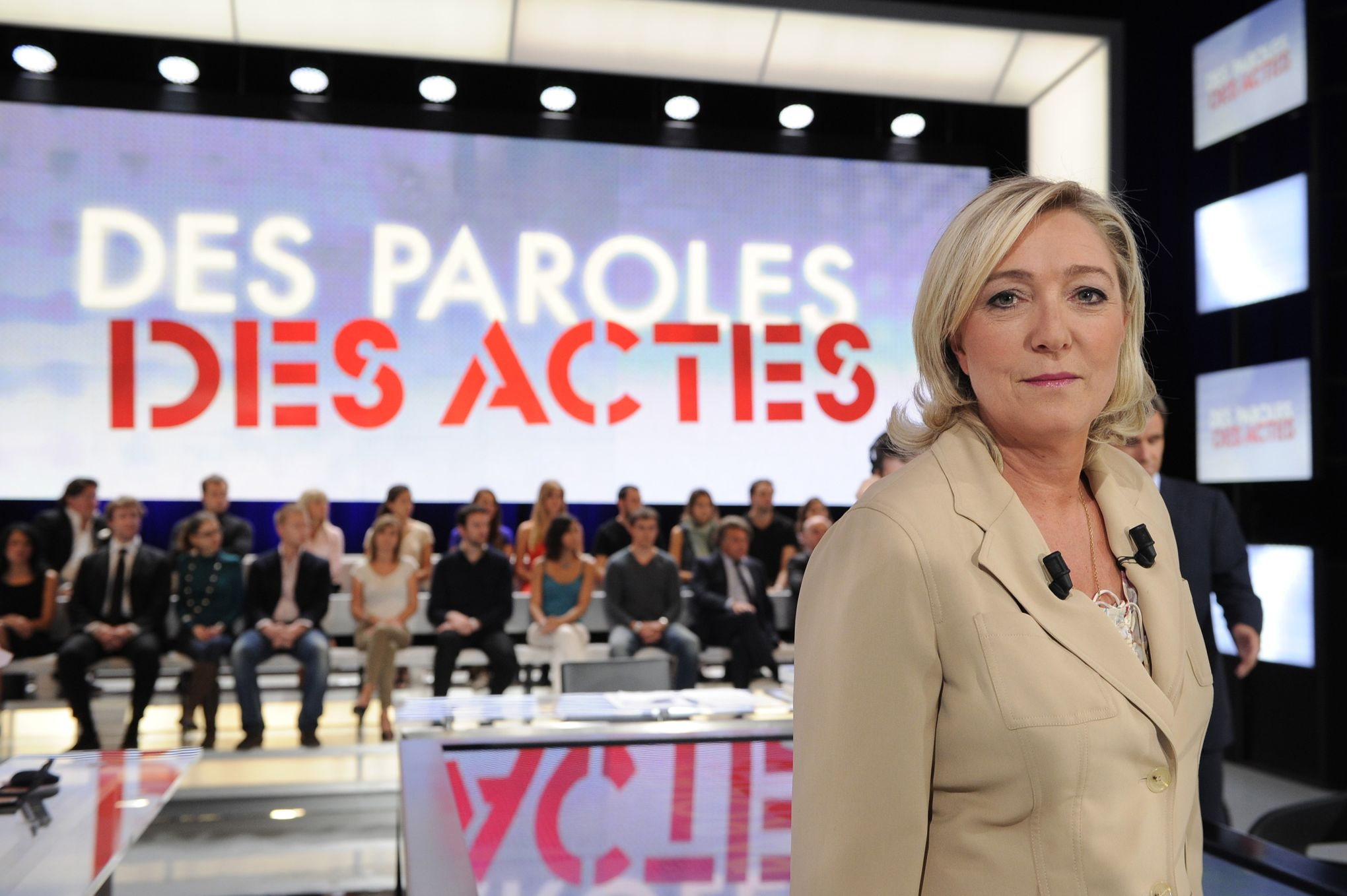 marine le pen contre france 2 un coup politique tout b n f pour le fn. Black Bedroom Furniture Sets. Home Design Ideas