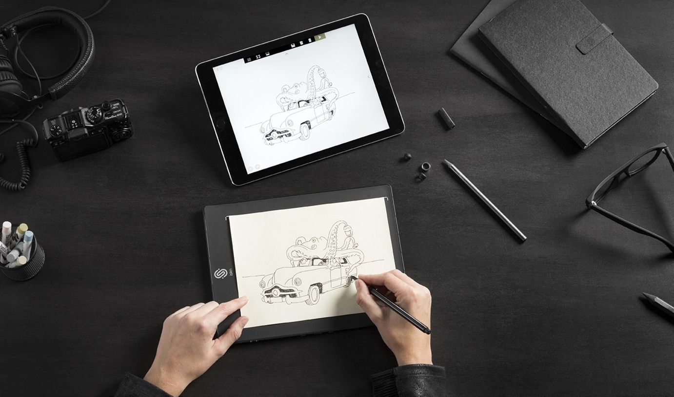 slate une tablette intelligente qui reproduit les dessins sur un ipad. Black Bedroom Furniture Sets. Home Design Ideas