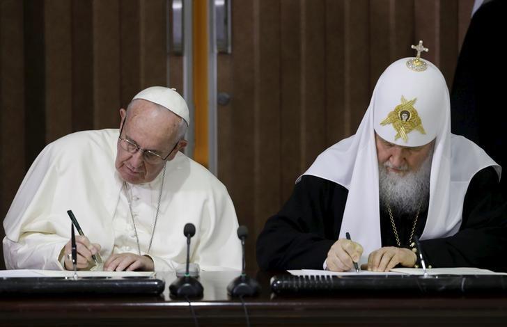 Cuba : rencontre historique entre le patriarche russe et le Pape