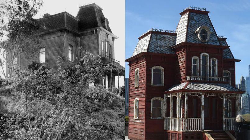 la maison hant e de psychose sur le toit du met de new york. Black Bedroom Furniture Sets. Home Design Ideas