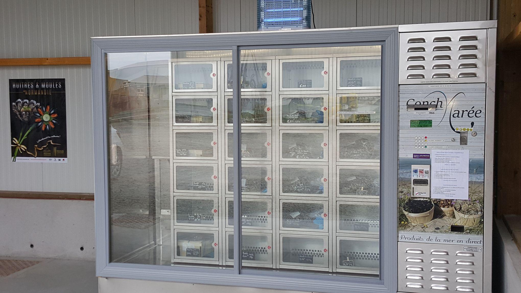 un distributeur automatique pour acheter des fruits de mer toute heure. Black Bedroom Furniture Sets. Home Design Ideas