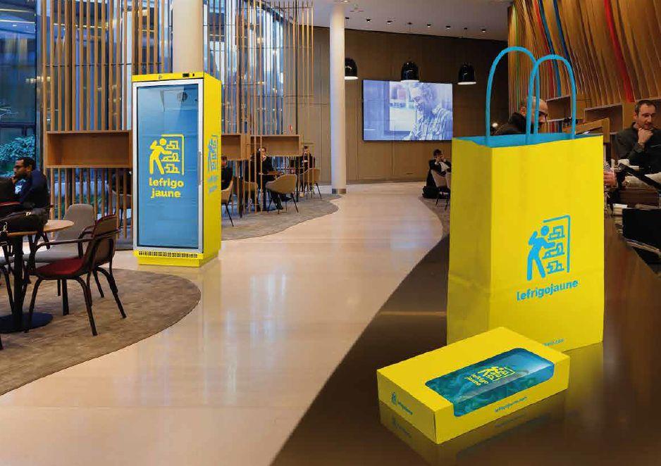 un frigo pour r cup rer les invendus des restaurants d 39 entreprise. Black Bedroom Furniture Sets. Home Design Ideas