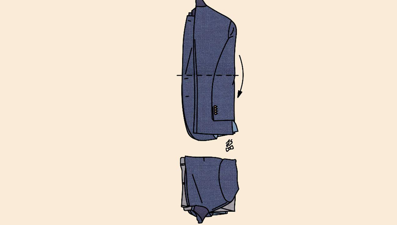 Valise : comment plier son costume