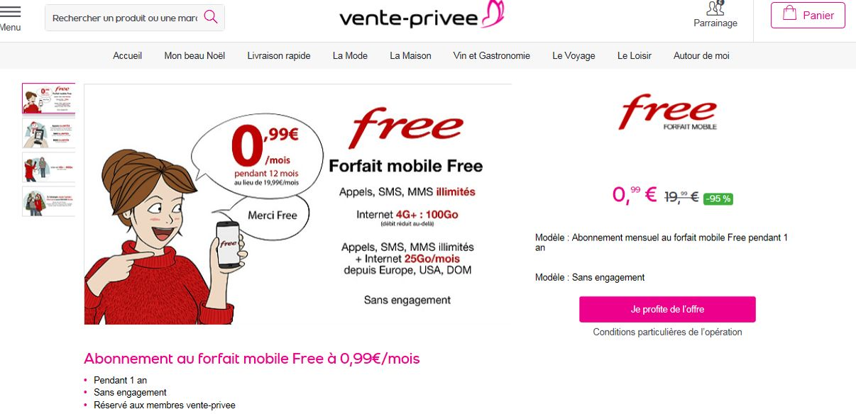vente privee internet