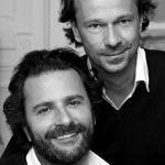 Les producteurs Cyril Colbeau Justin et Jean-Baptiste Dupont marchent par paire