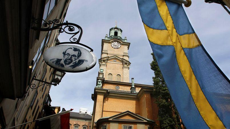The Stockholm Cathedral is seen in Gamla Stan or the Old Town district of Stockholm