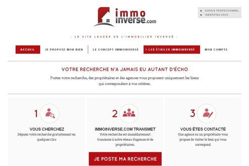 Capture d'écran du site immoinverse.com.