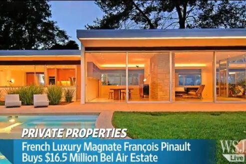 François Pinault vient d'acheter une villa à 16,5 millions de dollars à Los Angeles.