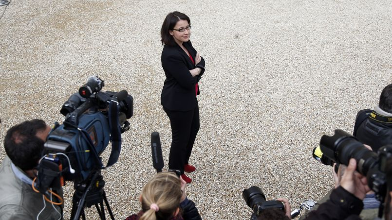 Cécile Duflot, ministre du Logement, à la sortie du Conseil des ministres, ce jeudi.