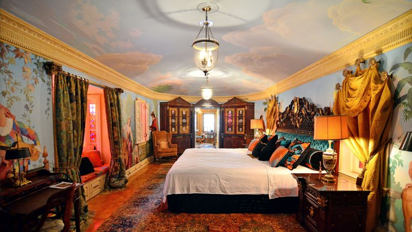 et 11 salles de bain. Ici, la chambre où séjournait Madonna lors de ...