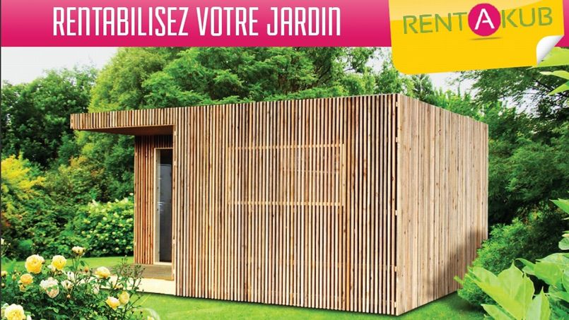 une cabane en bois louer aux tudiants ou touristes pour rentabiliser son jardin. Black Bedroom Furniture Sets. Home Design Ideas