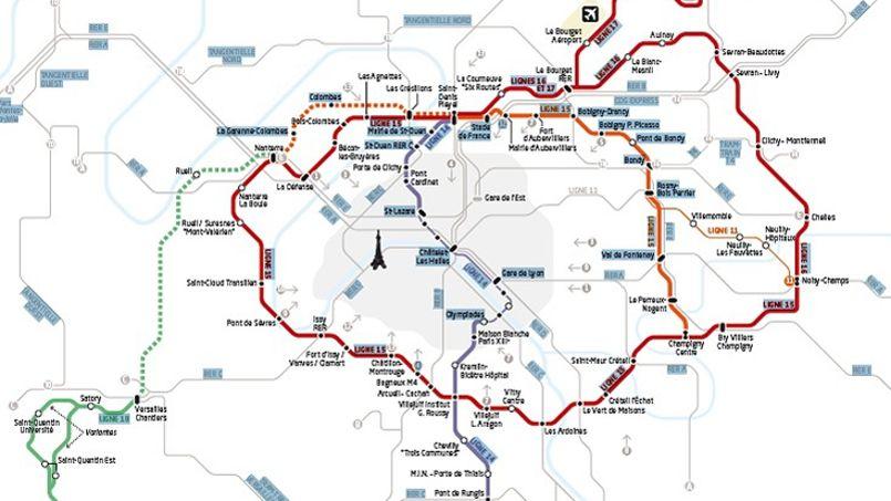 Le Grand Paris Express doit parcourir 205 kilomètres à travers les départements de petite couronne.