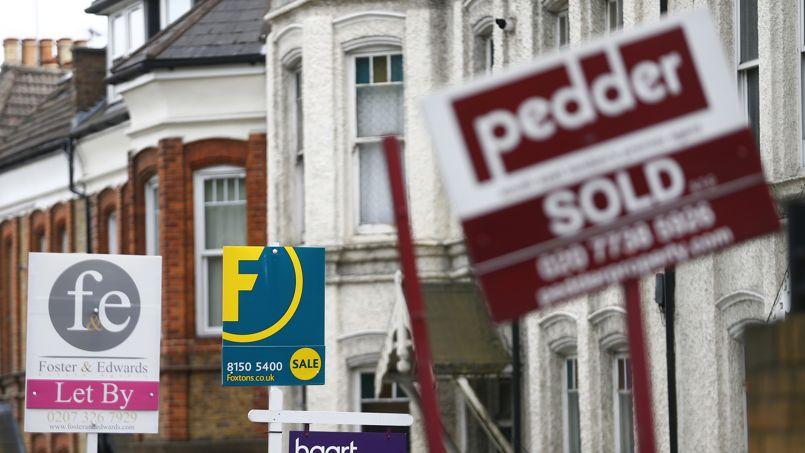 Des maisons à vendre, à Londres.