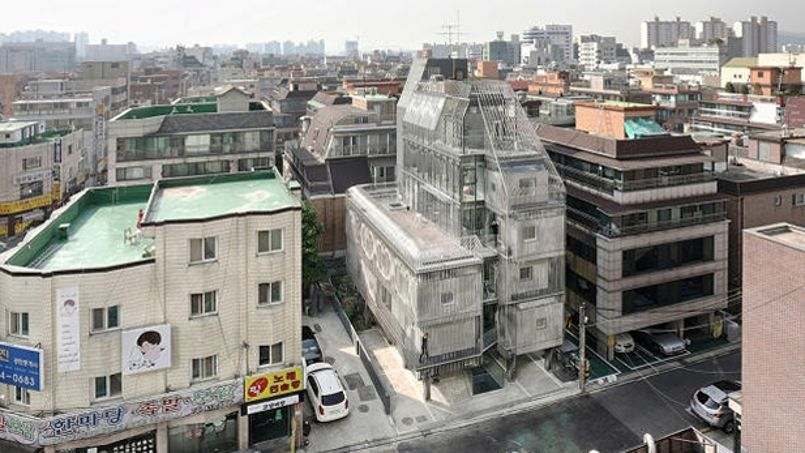 L'immeuble Songpa Micro Housing. Crédit: SsDarchitecture.