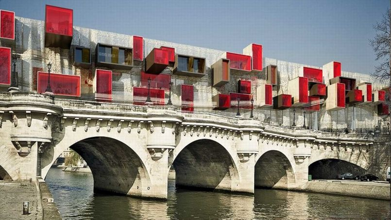 L utopique ville nomade sur le pont neuf paris for Architecture utopiste