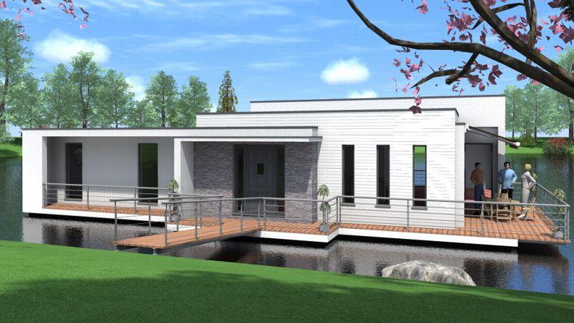 des maisons flottantes pour lutter contre les inondations. Black Bedroom Furniture Sets. Home Design Ideas