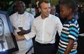 Kareem, le peintre nigérian de 11 ans qui a fait le portrait d'Emmanuel Macron