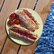 Sandwich au poulet sans gluten