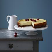 Cheesecake spéculoos et coulis de mangue