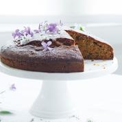 Gâteau courgettes, noix, cardamome