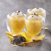 Mousse de potimarron, émulsion de truffe