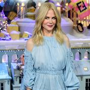 Nicole Kidman inaugure les vitrines de Noël du Printemps Haussmann