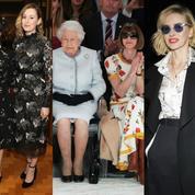 Elizabeth II, Matt Smith, Naomi Watts... Les stars aux premiers rangs des défilés londoniens