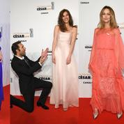 César 2018 : ruban blanc et robes du soir sur le tapis rouge