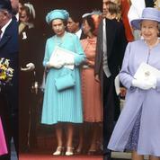 Les 1001 tenues (et couleurs) d'Elizabeth II invitée à un mariage