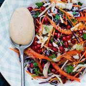 Salade à la Constantinople (chou blanc, carotte et grenade)