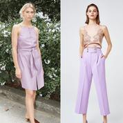 En mode rétro ou en duo, on a enfin trouvé comment porter le lilas!