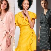 Unie, florale, rayée... La robe portefeuille, l'alliée de toutes les morphologies féminines