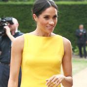 Sans la reine, Meghan Markle s'autorise un coup d'éclat en robe jaune
