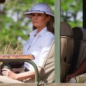 La nouvelle bévue vestimentaire de Melania Trump, coiffée d'un casque colonial, au Kenya