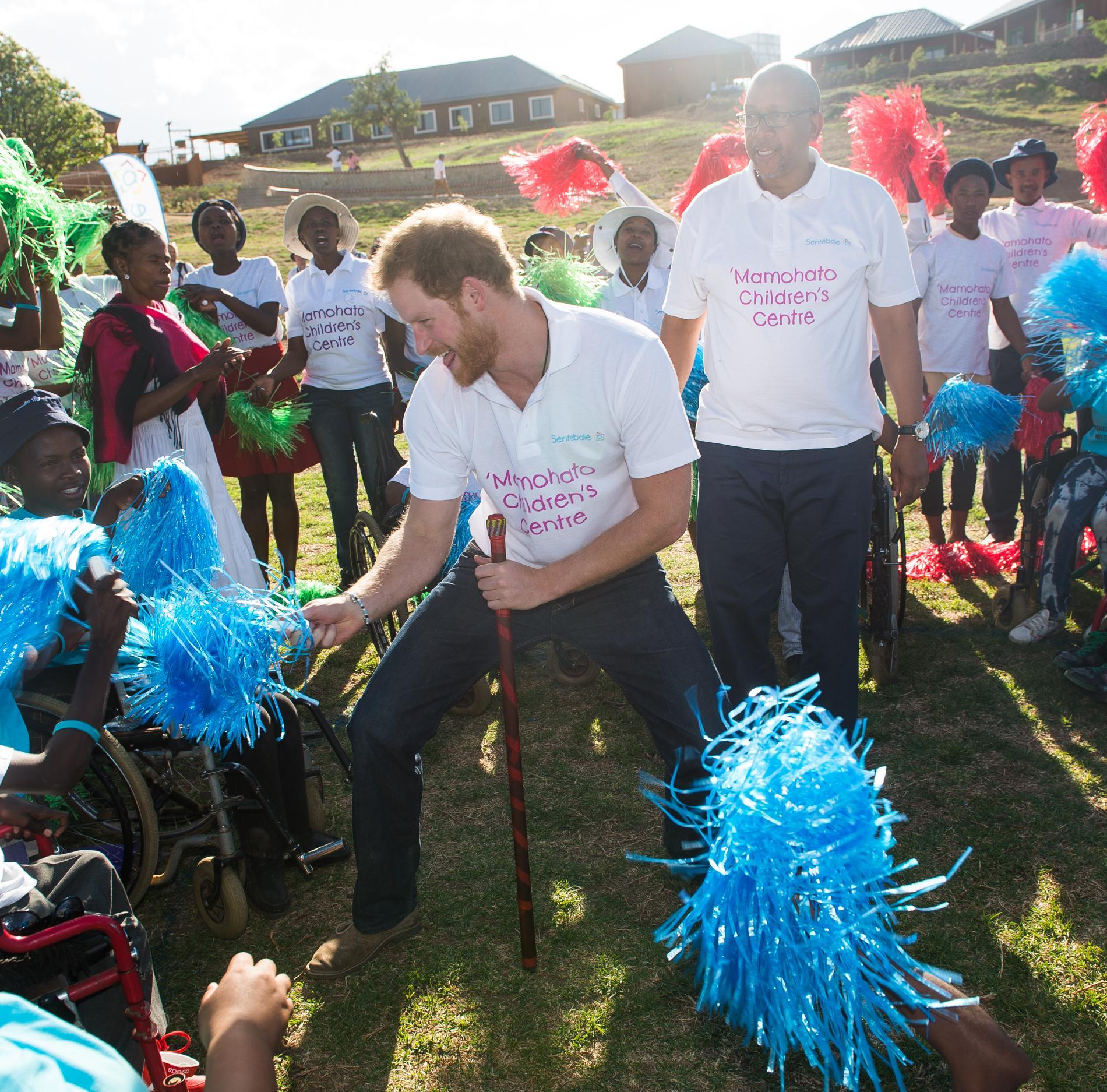 Le Prince Harry en Afrique du Sud