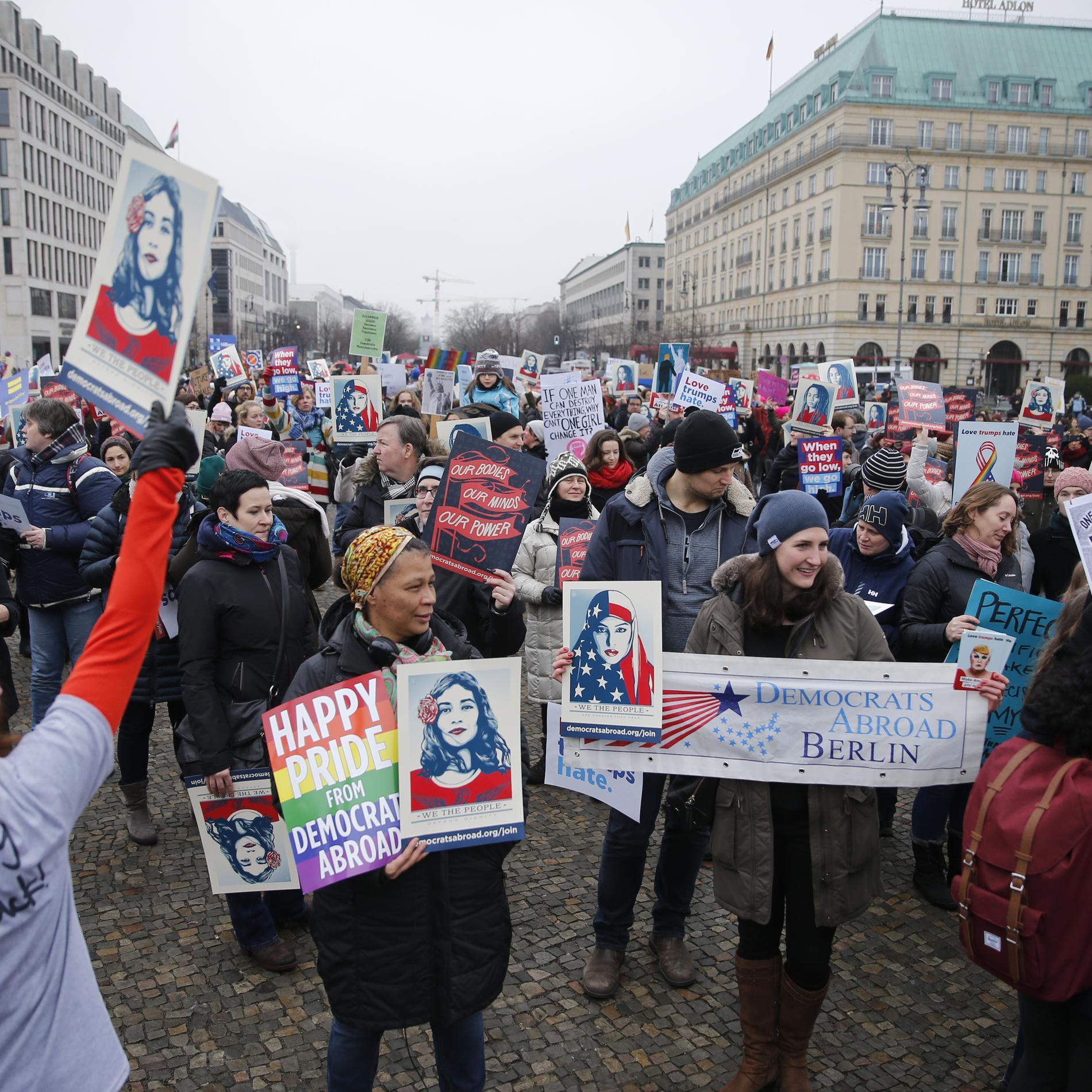 Women's March à Berlin (Allemagne)