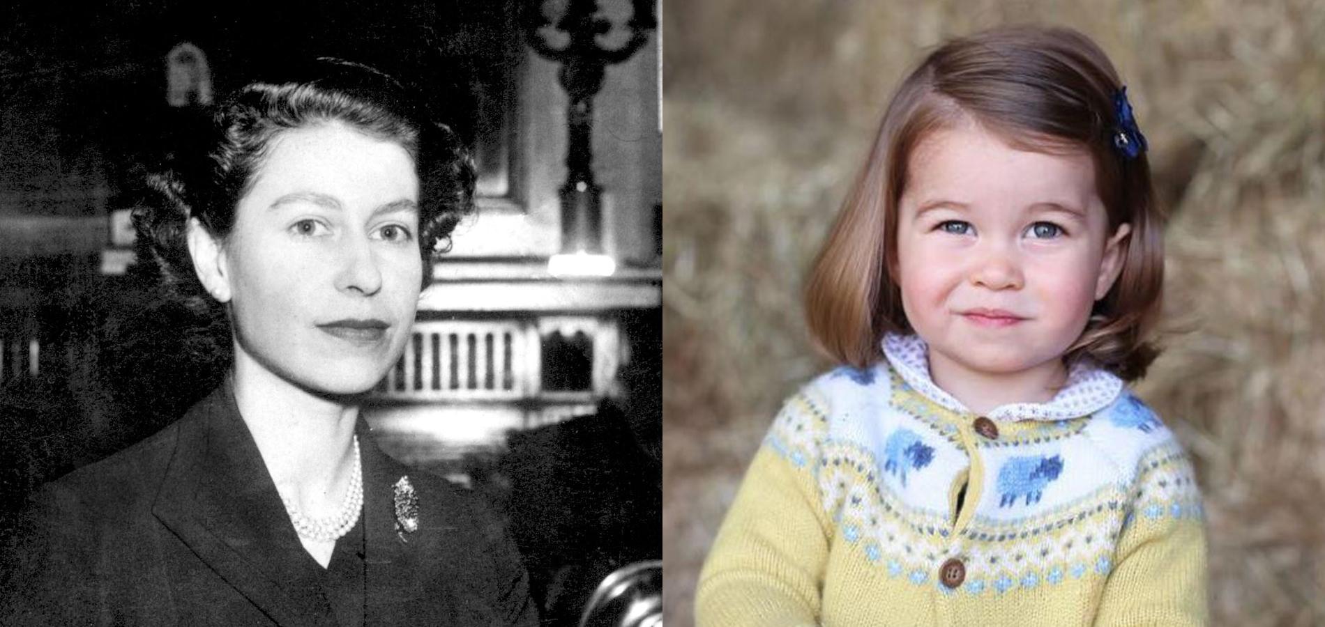 Elizabeth II et Charlotte de Cambridge, comme un air de famille