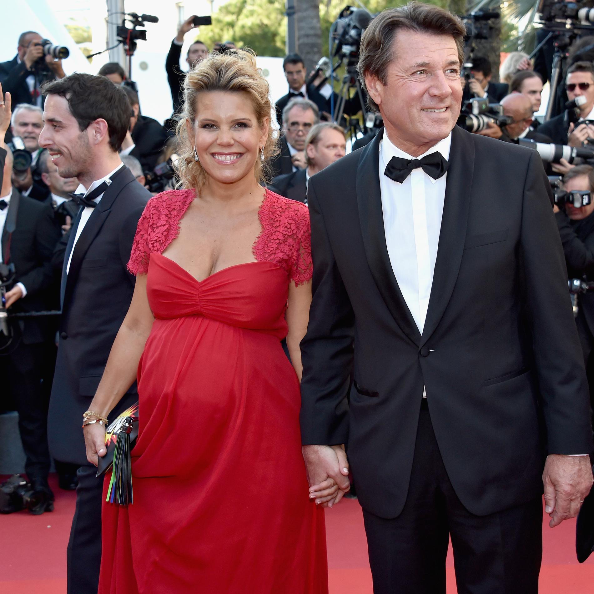Laura Tenoudji et son mari Christian Estrosi au Festival de Cannes - tout sourire
